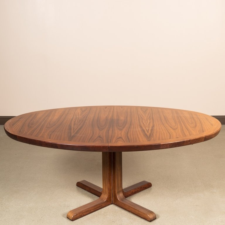 Danish Skovby Rosewood Dining Table - Signed