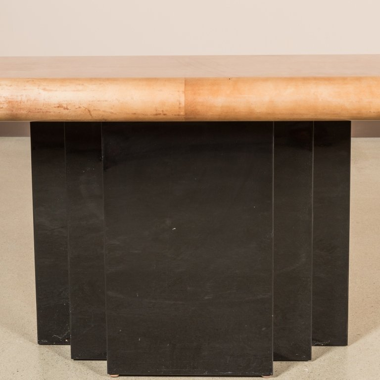 Goatskin and Lacquer Console Table - Aldo Tura - 2