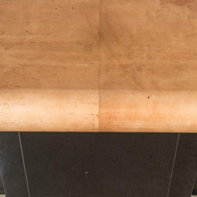 Goatskin and Lacquer Console Table - Aldo Tura - 4