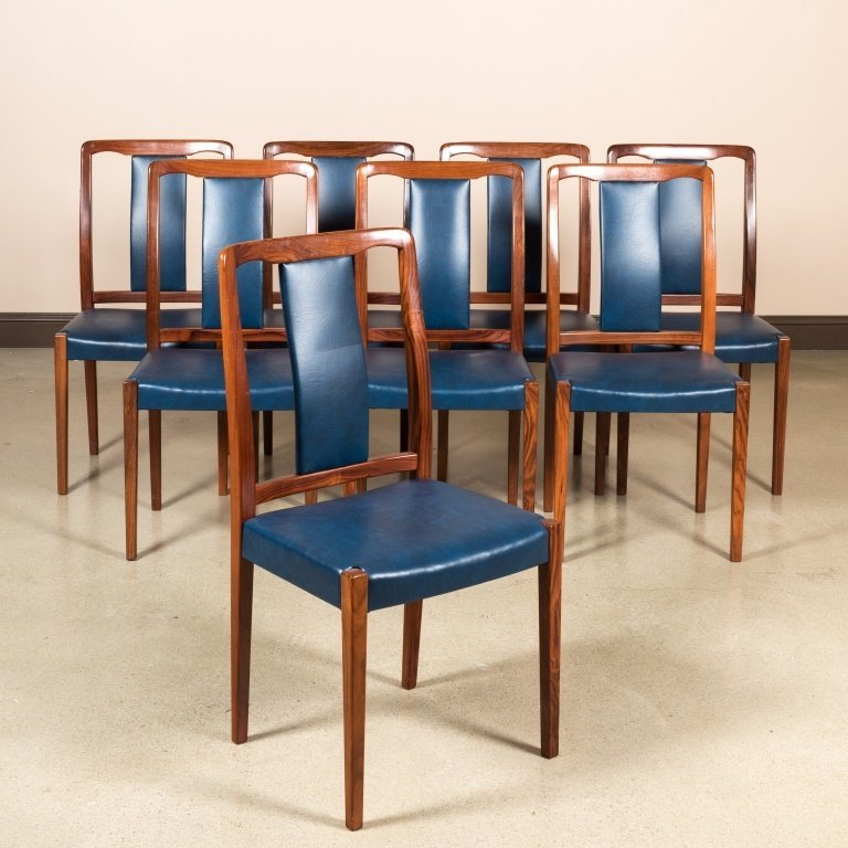 Group of Eight Danish Rosewood Dining Chairs