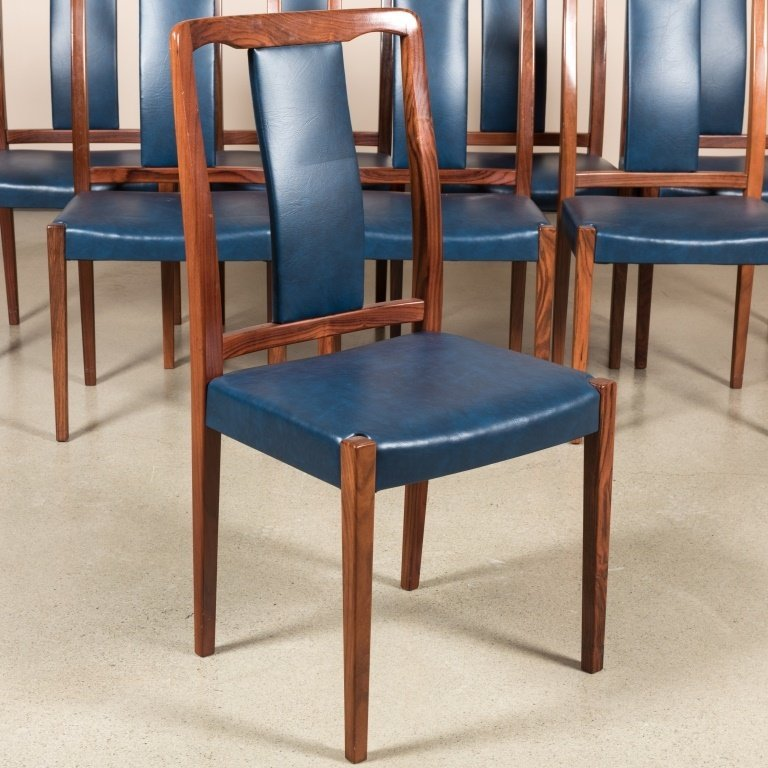Group of Eight Danish Rosewood Dining Chairs - 2
