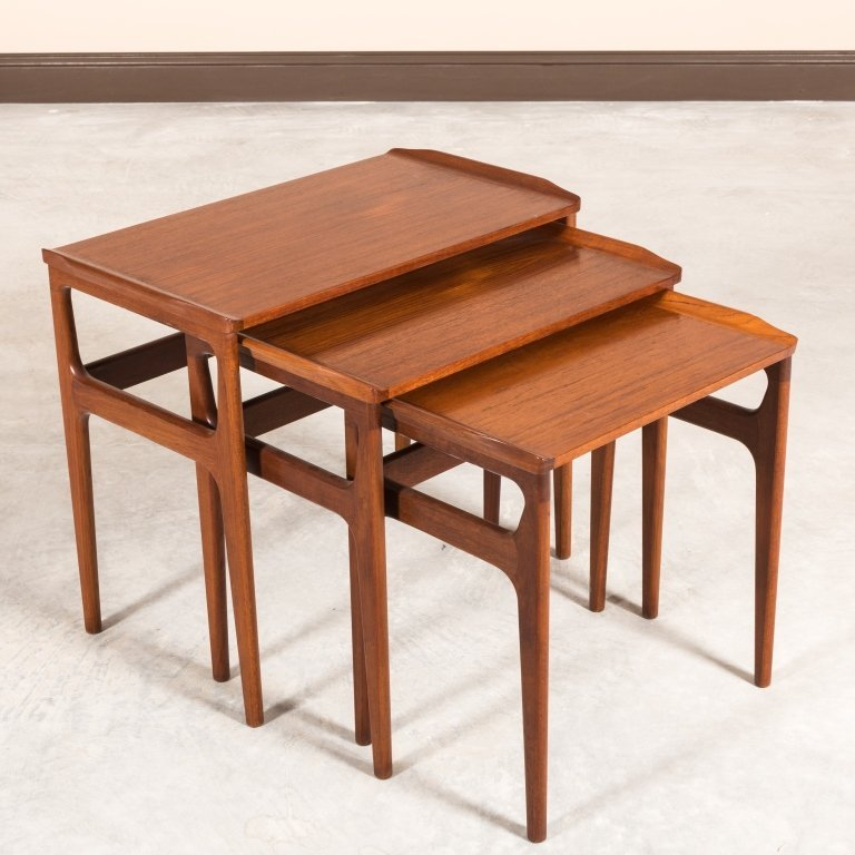 Heltborg Mobler Teak Nesting Tables - Signed