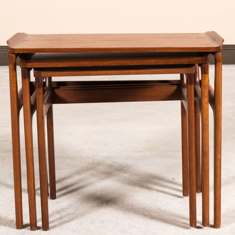 Heltborg Mobler Teak Nesting Tables - Signed - 3
