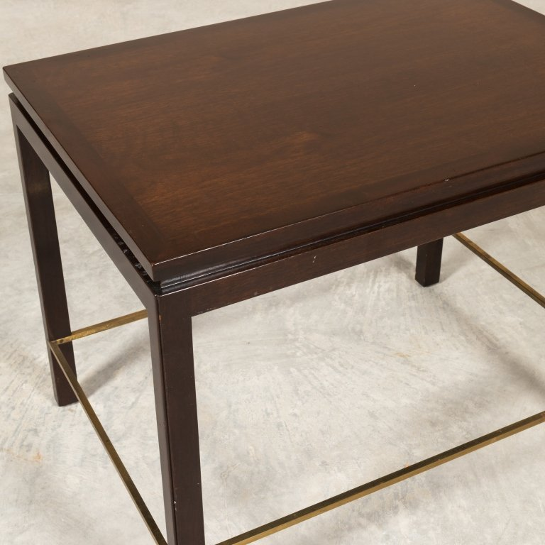 Dunbar Mid Century Walnut Table with Brass Detail - 2