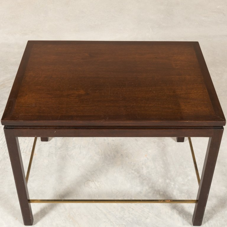 Dunbar Mid Century Walnut Table with Brass Detail - 3