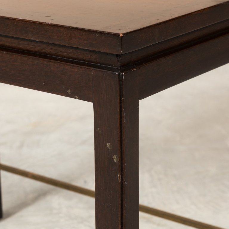 Dunbar Mid Century Walnut Table with Brass Detail - 4