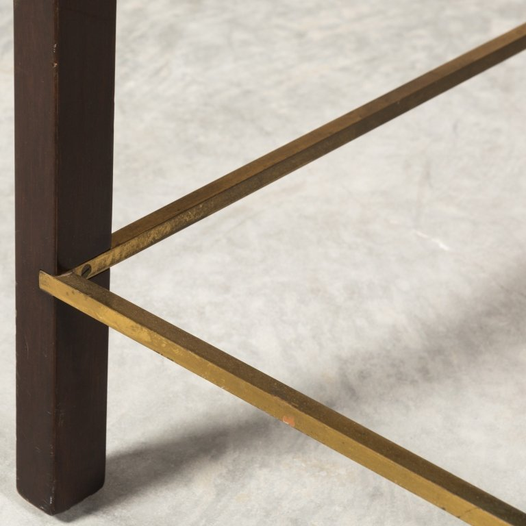 Dunbar Mid Century Walnut Table with Brass Detail - 6