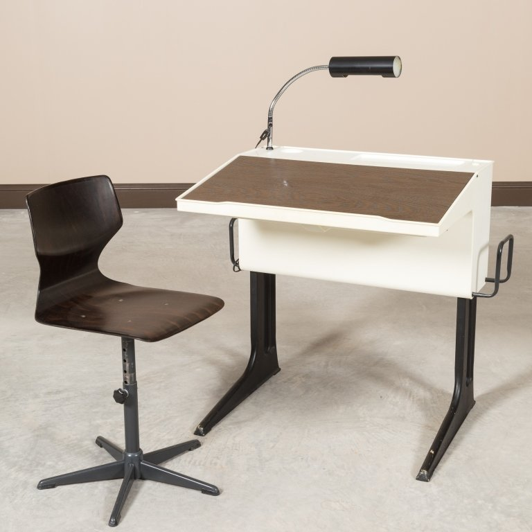 Luigi Colani For Flototto Germany Desk and Chair
