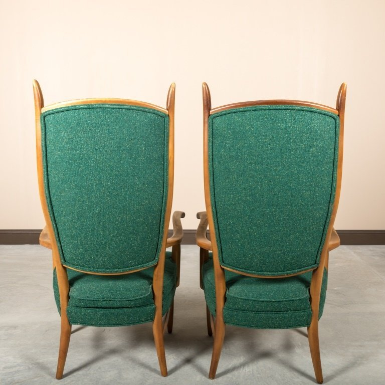 Pair Edward Wormley Dunbar Style Lounge Chairs - 4