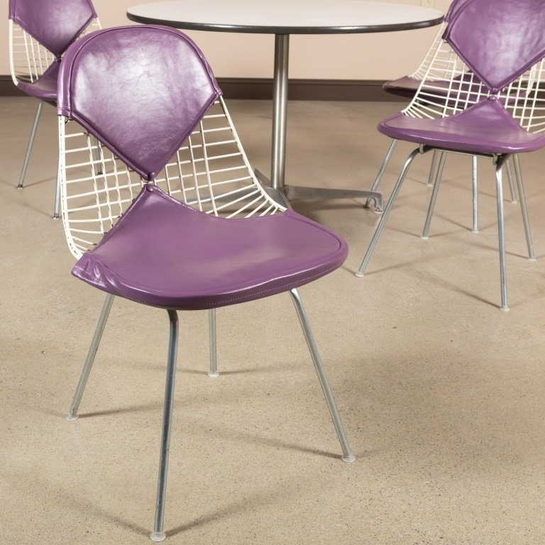 Four Eames Bikini Chairs with Herman Miller Table - 2