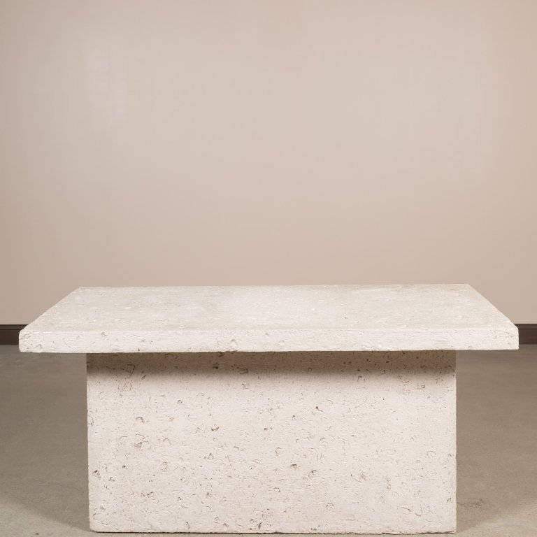Composition Fossilized Stone Console Table