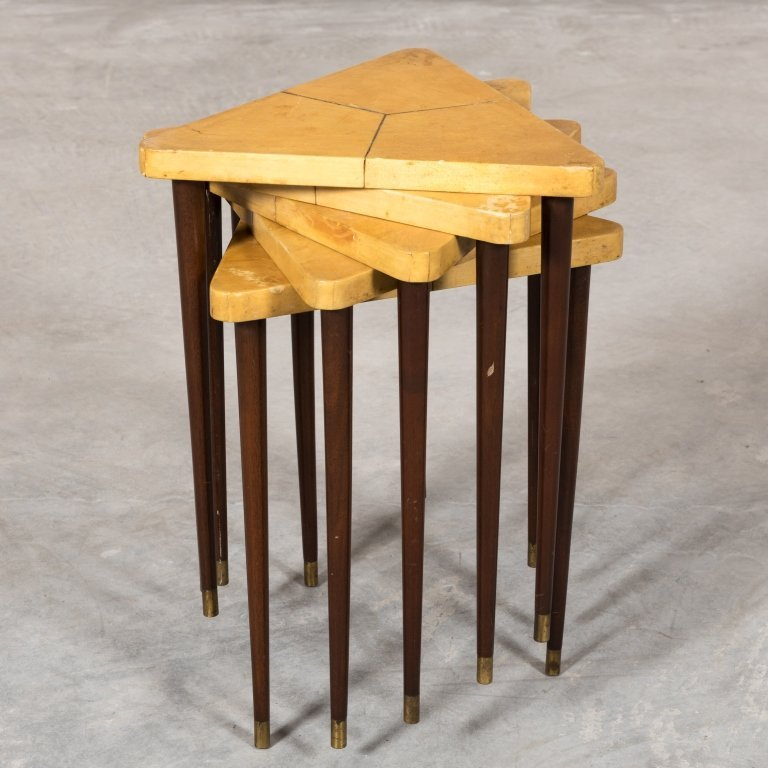 Triangular Nest of Table by Muebles Tollan