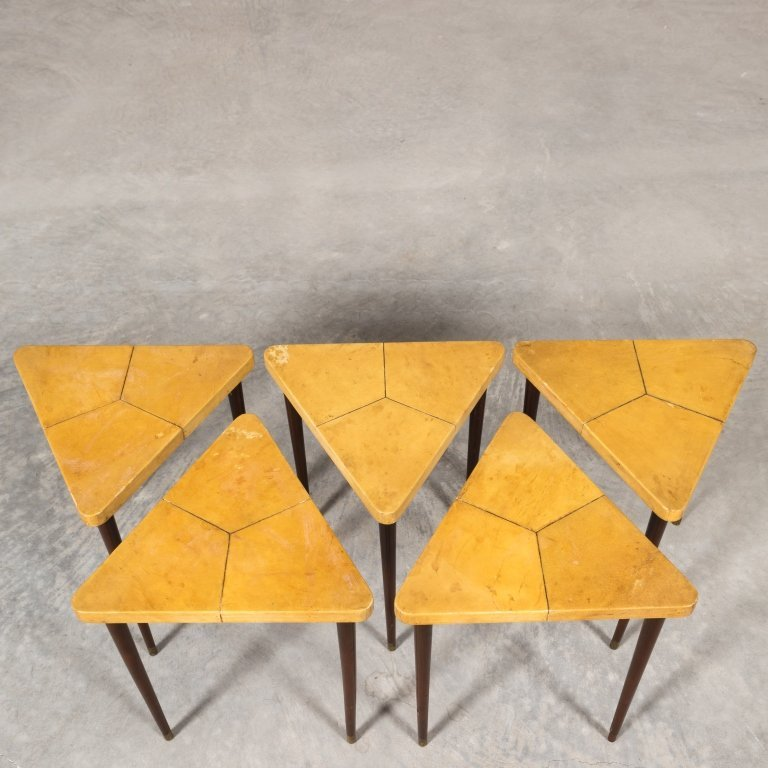 Triangular Nest of Table by Muebles Tollan - 5