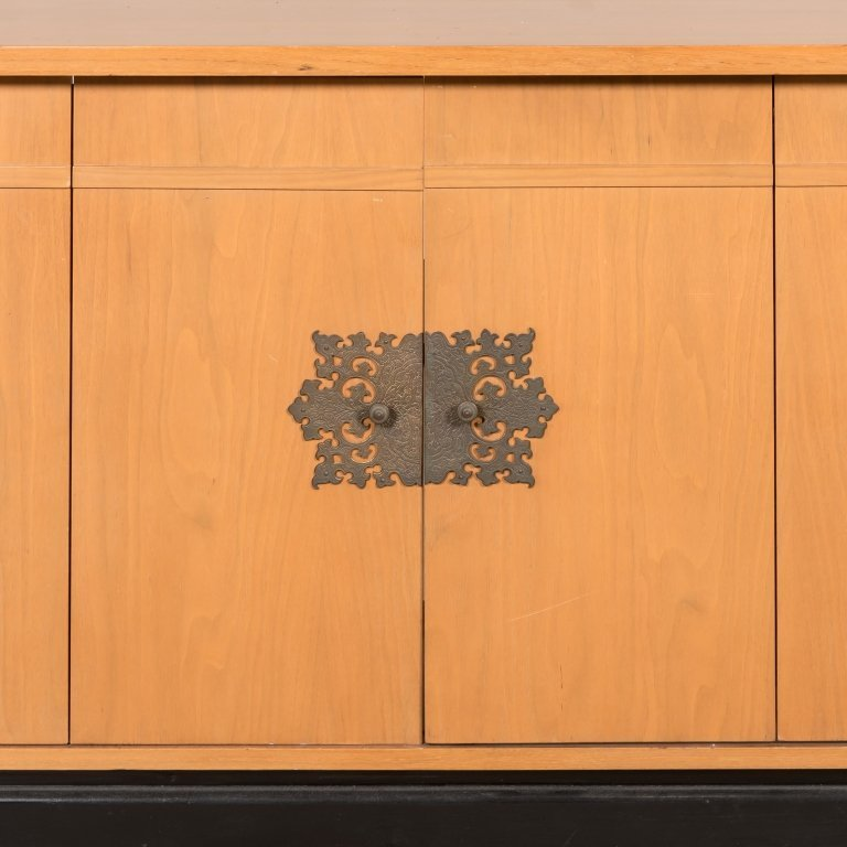 Chinese Modern Credenza with Rattan Doors - 2
