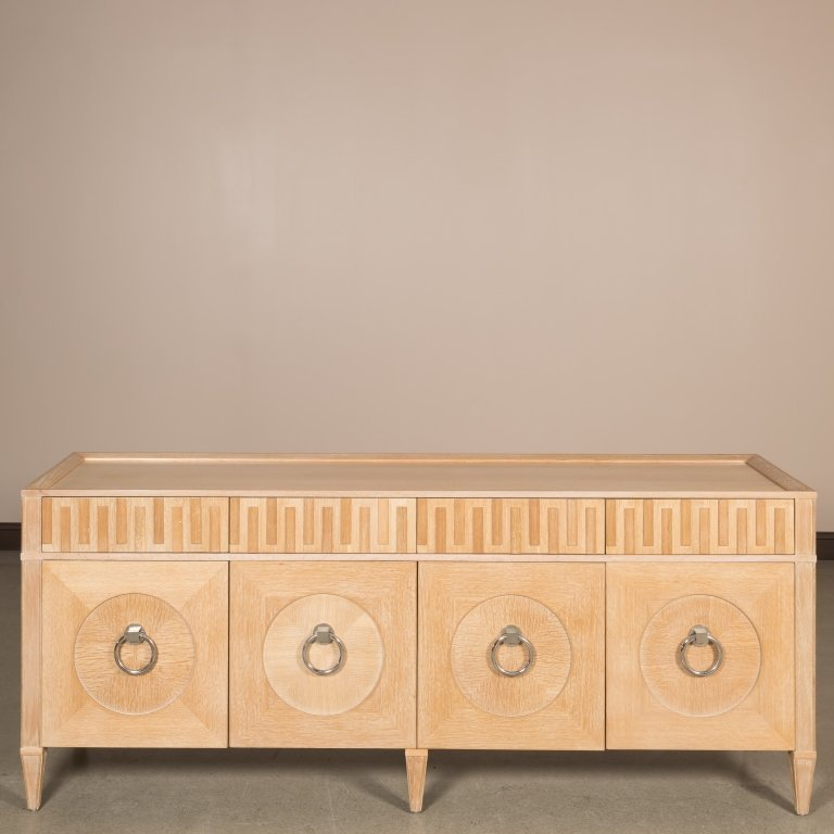 Cerused Oak Hollywood Regency Credenza