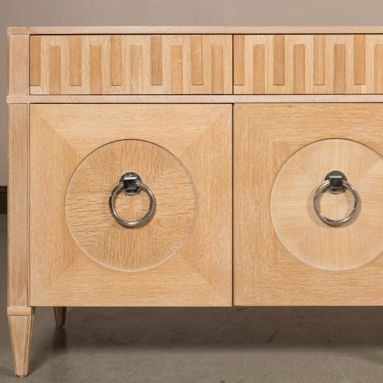 Cerused Oak Hollywood Regency Credenza - 2