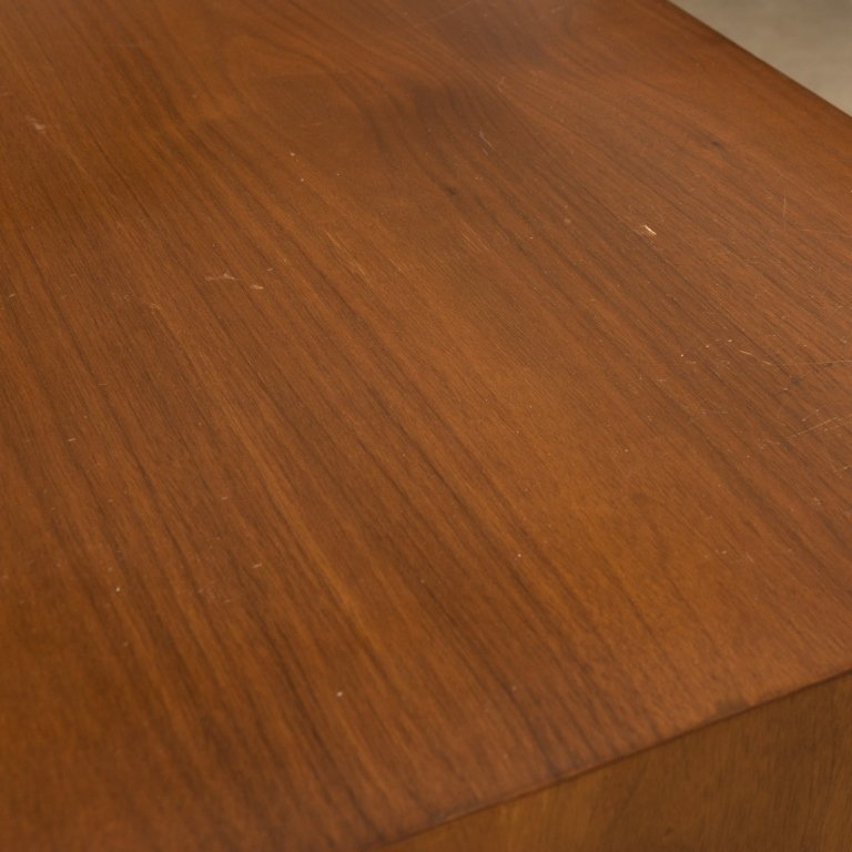 Walnut Diamond Faced Side by Side Chifferobe - 4