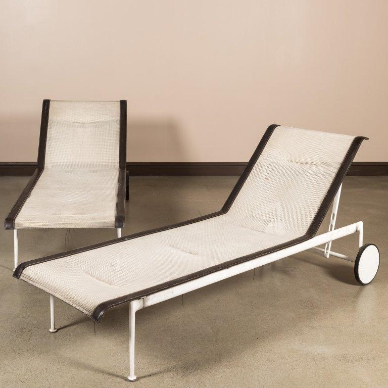 Pair Richard Shultz for Knoll Chaise Lounges