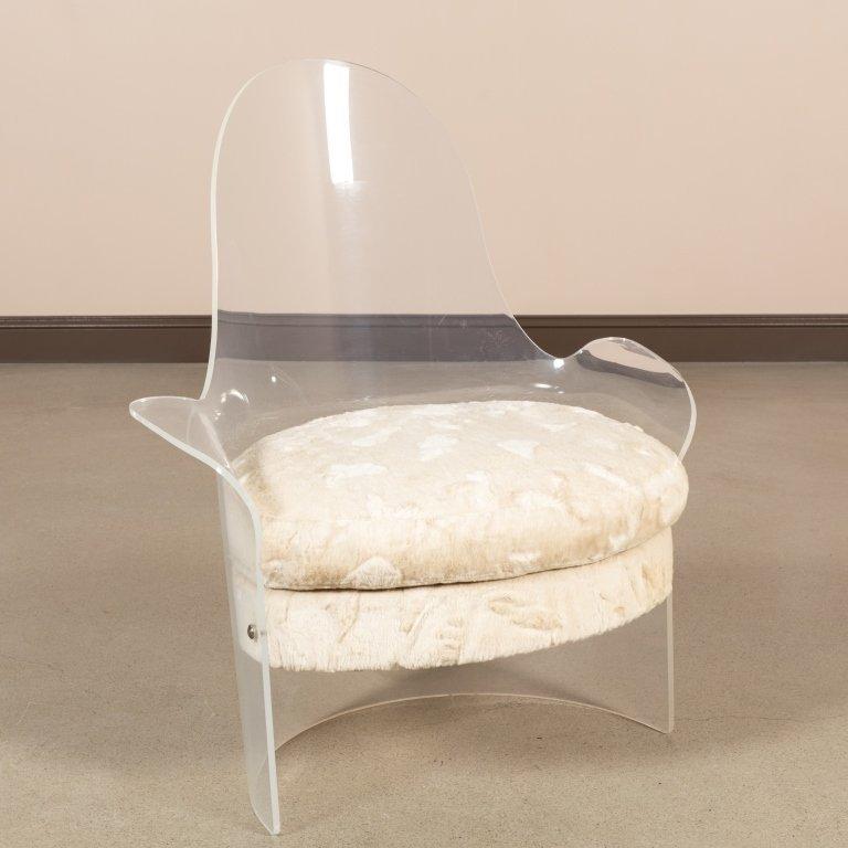 Mid Century Lucite Tub Chair
