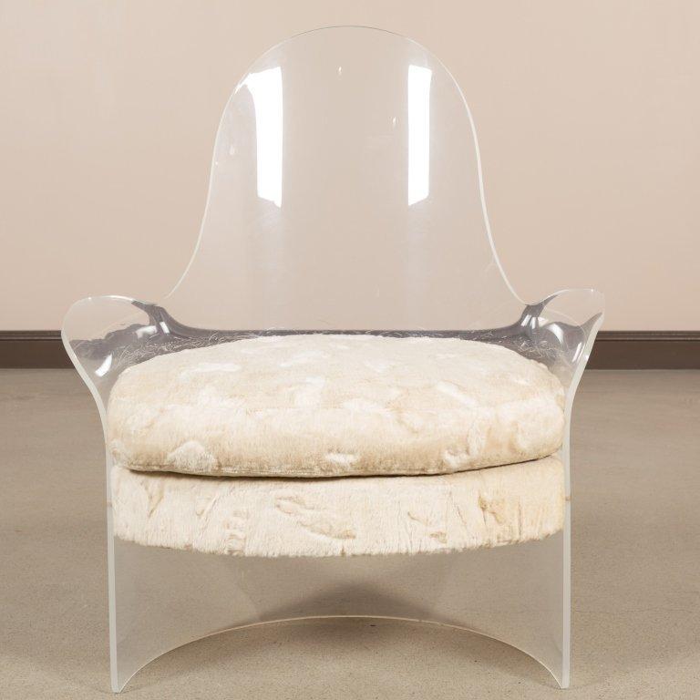 Mid Century Lucite Tub Chair - 5