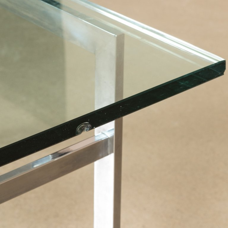 Chrome and Glass Console Table - 2