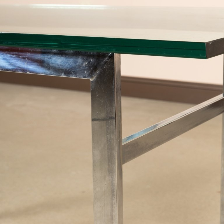 Chrome and Glass Console Table - 3