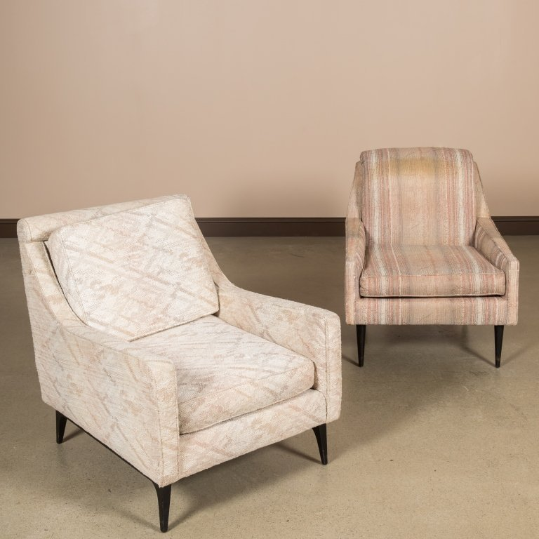 Two Modern Mid Century Living Room Chairs