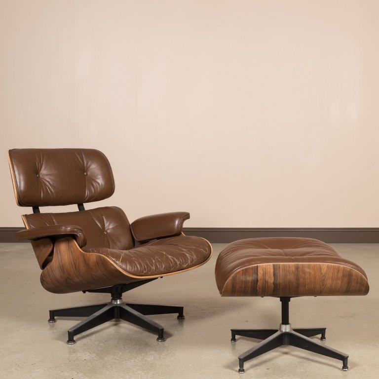 Herman Miller Rosewood Eames Chair and Ottoman