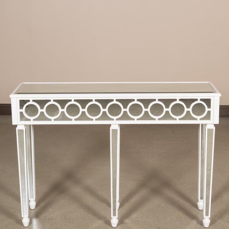 Hollywood Regency-Style Mirrored Console Table