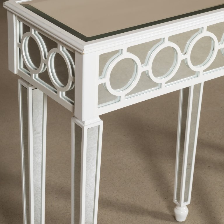 Hollywood Regency-Style Mirrored Console Table - 2