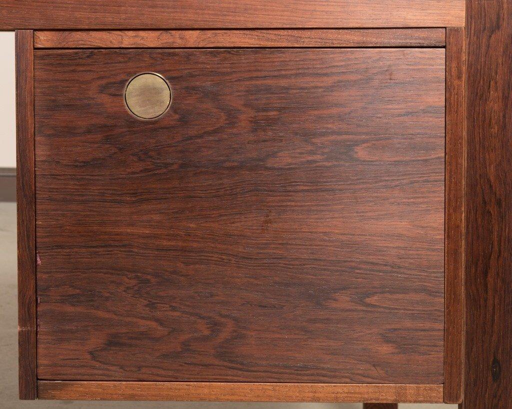 Dyrlund Rosewood Desk with Brass Pulls - 3