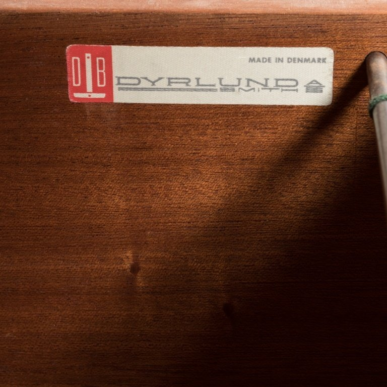 Dyrlund Rosewood Desk with Brass Pulls - 5