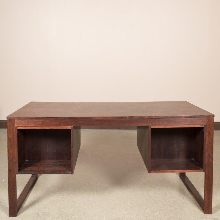Dyrlund Rosewood Desk with Brass Pulls - 6