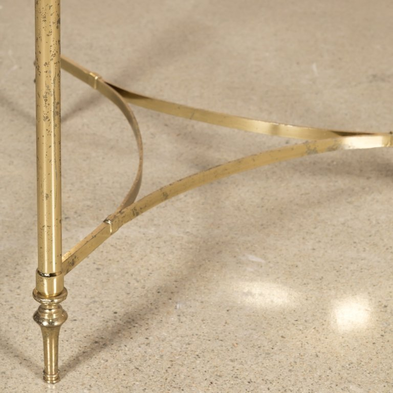 Modern Brass End Table - 2