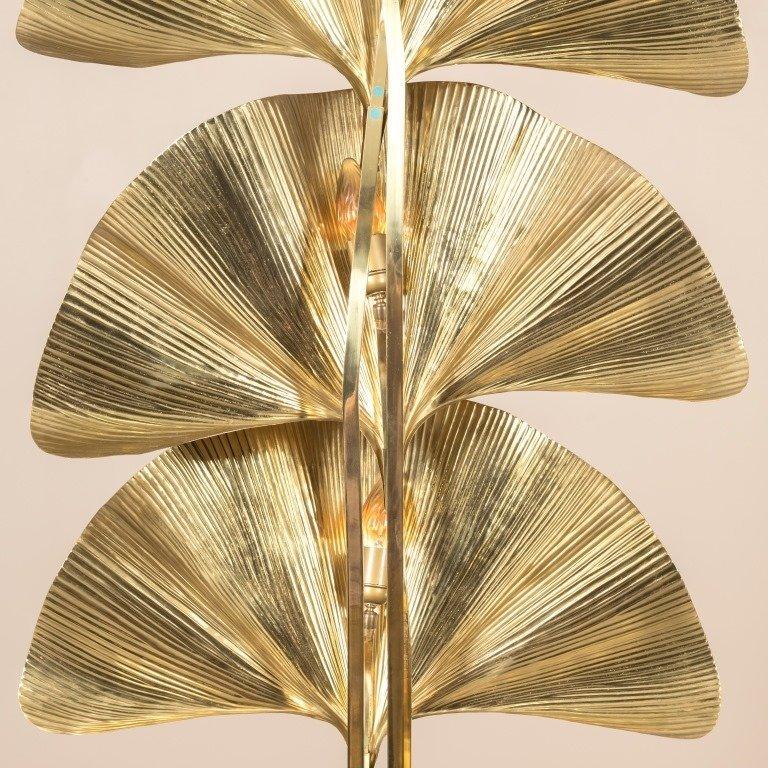 Tommaso Barbi Brass Ginko Floor Lamp - 6