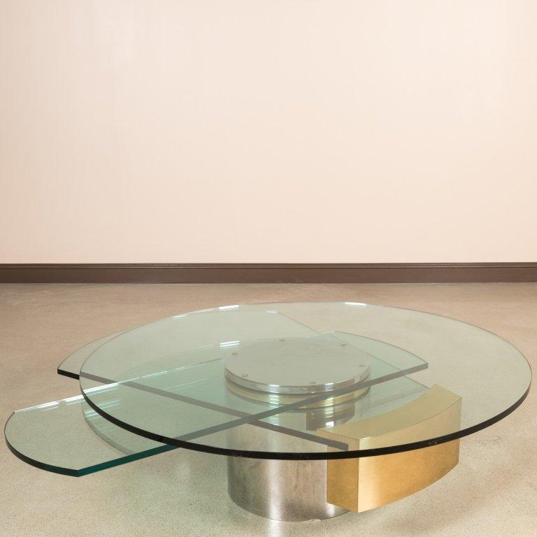 jackson revolving glass coffee table