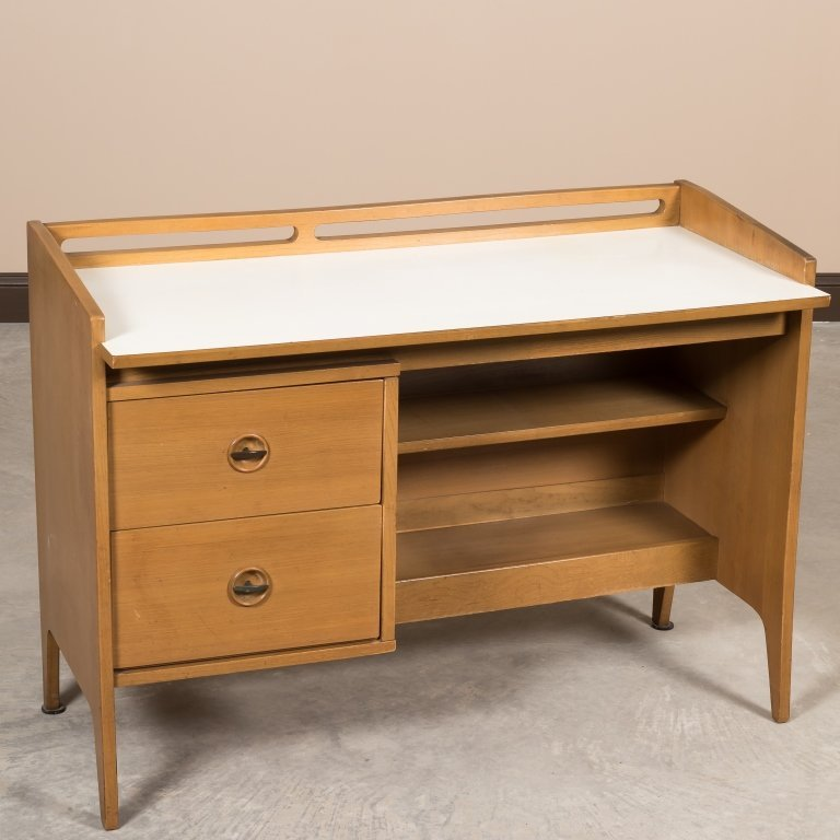 Mid Century Desk with White Top