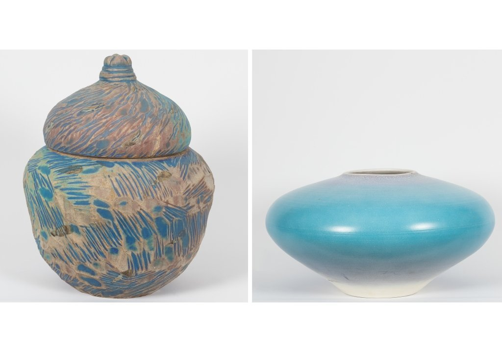 Pair of Modern American Art Pottery