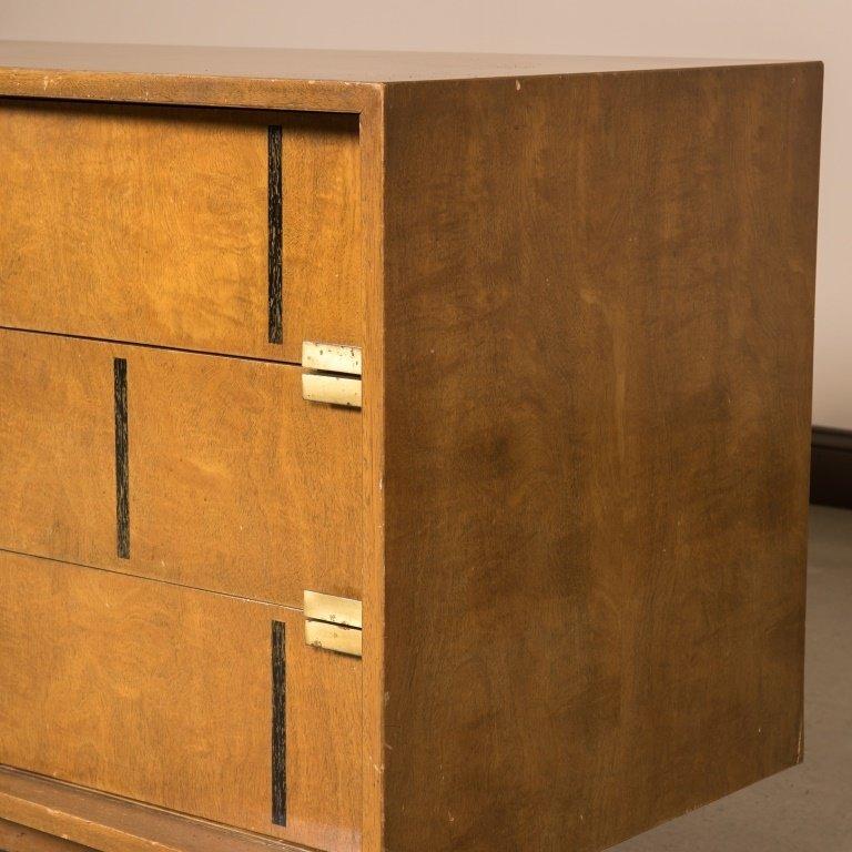Walnut Block Front Concave Triple Dresser - 4