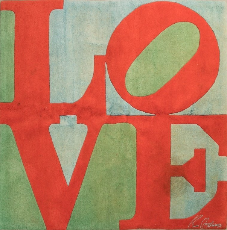"Robert Indiana Signed ""Love"" Rug"