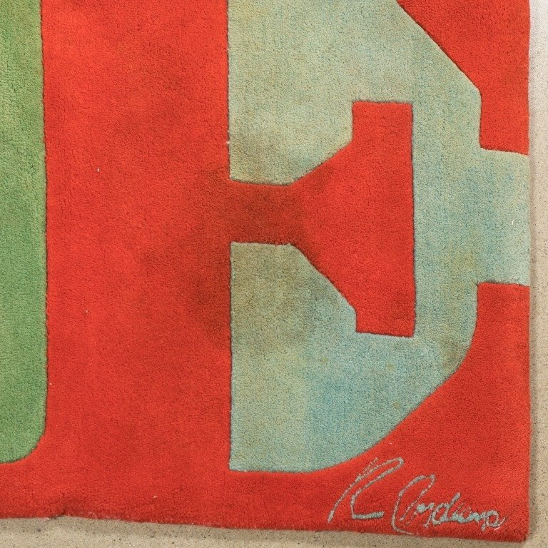 "Robert Indiana Signed ""Love"" Rug - 2"
