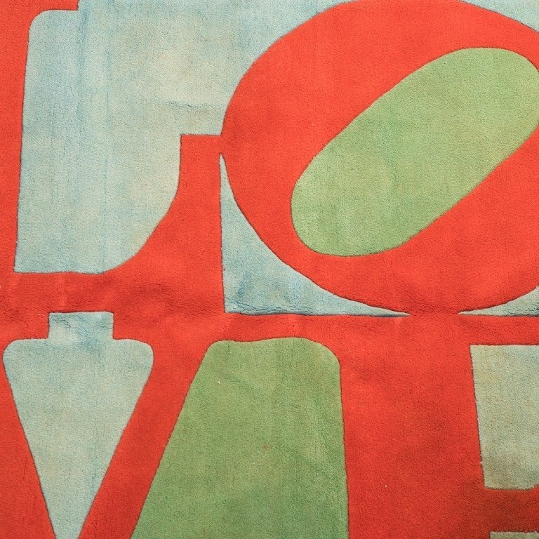 "Robert Indiana Signed ""Love"" Rug - 3"