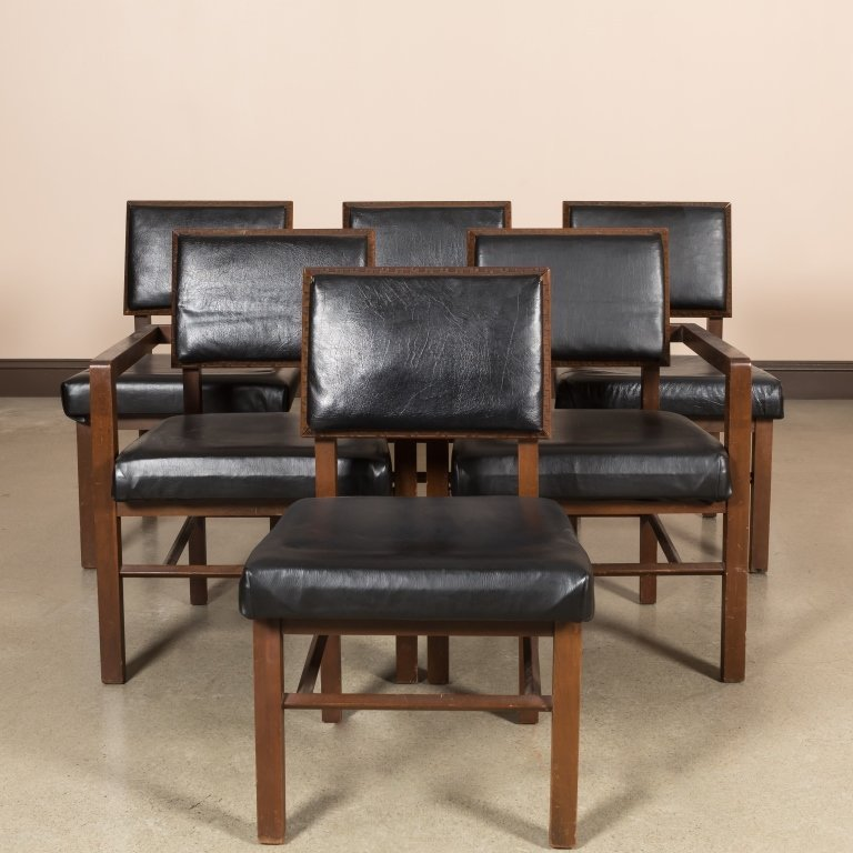 Six Frank Lloyd Wright Dining Chairs for Henredon