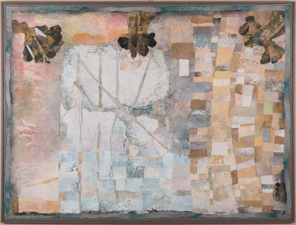 Daniel Teis (1925-2002) Large Mixed Media