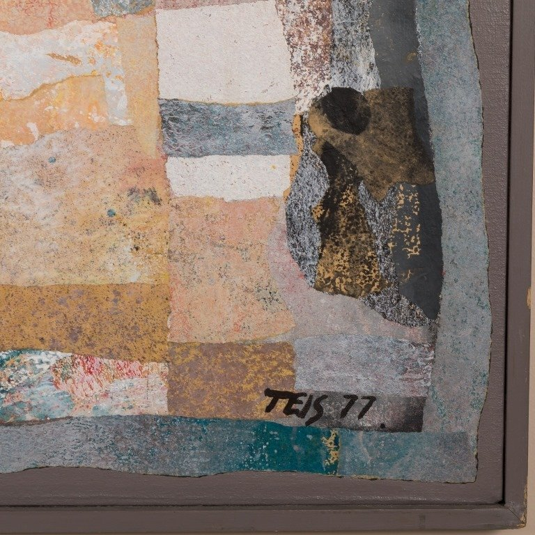 Daniel Teis (1925-2002) Large Mixed Media - 2