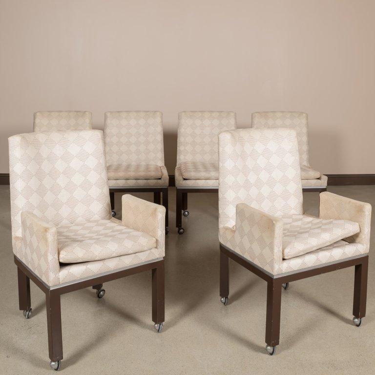 Six Vladimir Kagan Cubist Dining Chairs