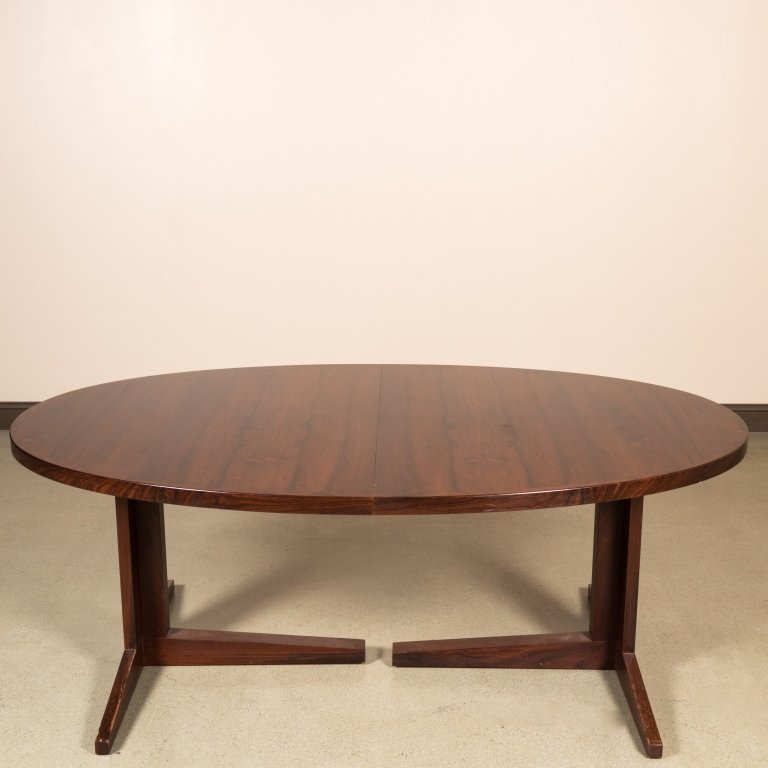 Danish Rosewood Banded Dining Table