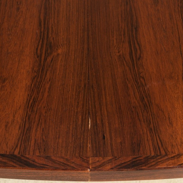 Danish Rosewood Banded Dining Table - 2