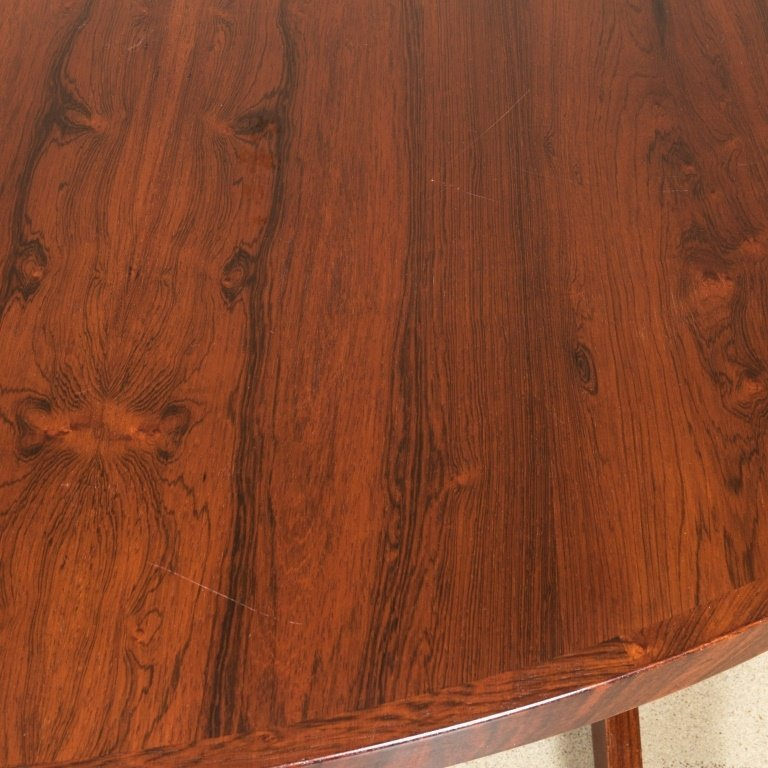 Danish Rosewood Banded Dining Table - 3