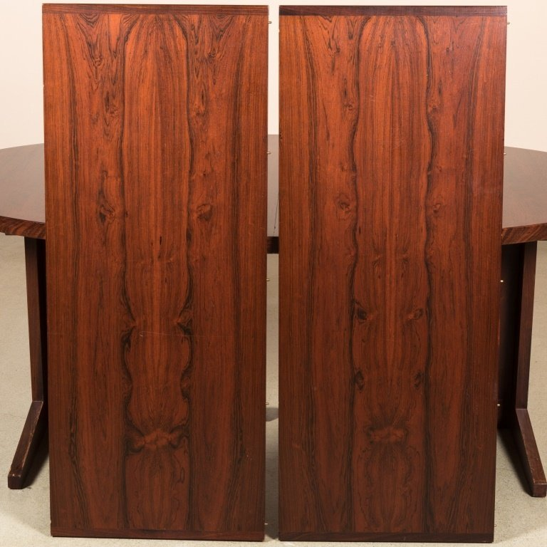 Danish Rosewood Banded Dining Table - 4